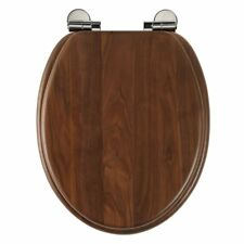Roper Rhodes Traditional Solid Walnut Wood Toilet Seat With Soft Close 8081AWSC