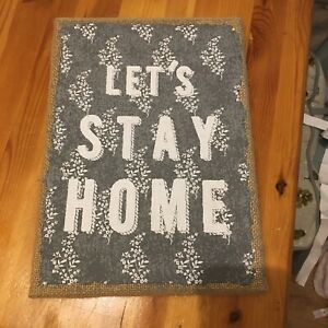 "Next ""lets Stay Home"" Wall Art Picture"