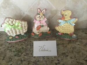 Spring Easter Bunny Chicken Lamb Yellow CHICK Valerie Parr Hill Cookies