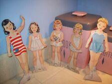 Set of 5 vintage 40's 50's Paper Dolls