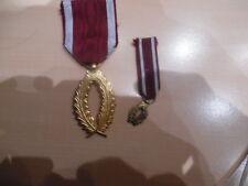bell medaille civile  belge palme couleur or+diminutif idem
