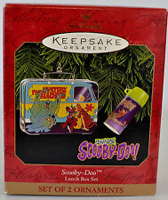 Hallmark Keepsake Scooby Doo Lunch Box Set of 2 Ornaments NIB QX6997 1999