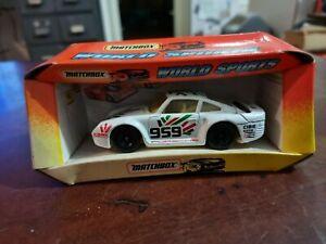Matchbox diecast Toy car 1/43 World Sports 959 Porsche c1993 used not perfect