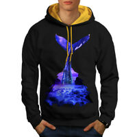 Blue Whale Diving Men Contrast Hoodie S-2XL NEW   Wellcoda