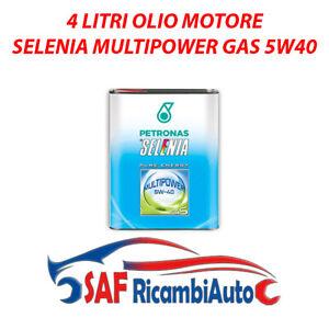 4 LT LITRI OLIO MOTORE SELENIA MULTIPOWER 5W40 5W-40 GAS METANO LUBRIFICANTE