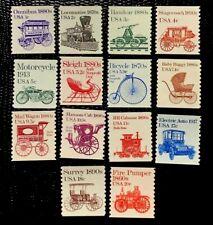 US 1st issue Transportation#1897-1908 Single Coils Complete set