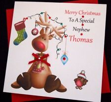 Handmade Personalised Christmas Card Daughter Son Grandson Niece Nephew