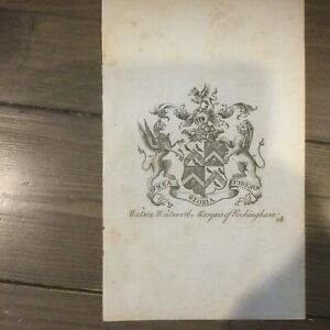 Antique Engraving Wentworth Woodhouse