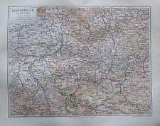 Oesterreich Österreich ob der Enns 1896 alte Landkarte Karte antique map Litho