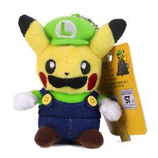 "Pokemon Center Pikachu Luigi Plush Toy Super Mario Cosplay Figure 4.5"" US SHIP"