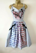 VIVIENNE WESTWOOD CHAOS 40 Rare Print Fit & Flare Wedding Summer Party Dress