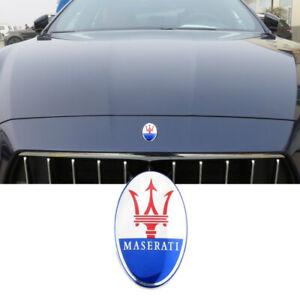 Maserati Front Emblem Ghibli,Granturismo,Quattroporte (Blue/chrome)