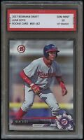 JUAN SOTO  2017 / 17 BOWMAN DRAFT Topps 1ST GRADED 10 ROOKIE CARD RC NATIONALS