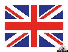 Tuftop Vidrio 6pcs Union Jack Bandera Rojo Blanco Azul Cocina Encimera Saver