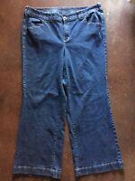 Lane Bryant Womens Plus Size 22 Average Stretch Denim Jeans Flap Back Pockets