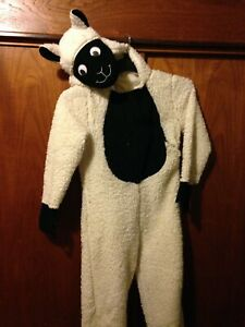 Sheep One piece Nightwear & Dressing up Nativity Theme Outfit with Goggly Eyes