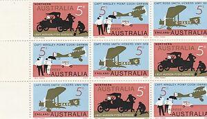 Australia 1969 SG 450/2 MUH Block of 9, 50th Anniv. of First Flight