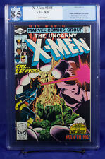 X-MEN #144 (Marvel) PGX 8.5 VF+ Very Fine Plus - Claremont - MAN-THING!!!
