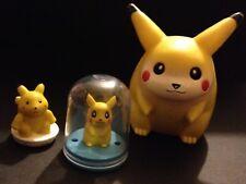 3 X Pikachu Pokemon Figures Capsule Pikachu 2000 Electronic Save £2 Multi-buy