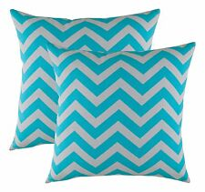 TreeWool, (2 Pack) Cotton Canvas Chevron Accent Decorative Throw Pillow Covers