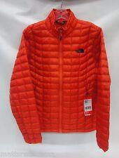 North Face Mens Thermoball Full Zip Jacket C762 Papaya Orange Size Medium