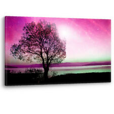 Infra Red Alien Landscape Magic Abstract Framed Canvas Wall Art Picture Print