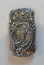 Sterling Silver ART NOUVEAU Match Safe / Vesta Case,10 grams