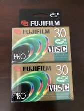 FujiFilm Vhs-C Camcorder Tc-30 Blank Tapes 2 Pack New