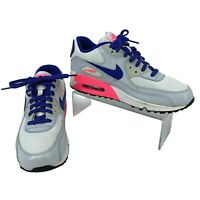 Nike Athletic Sneakers Youth Size 6.5 Y Air Max 90 Blue Gray White Shoes 2007