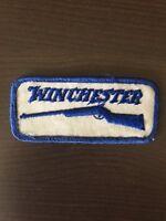 "Vtg Winchester Sew On Patch Rifle Gun Shotgun Firearm Hunting Embroidered 4"""