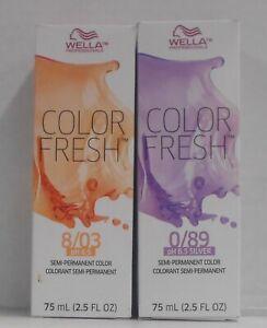 WELLA Professionals COLOR FRESH pH 6.5 Semi-Permanent Liquid Hair Color ~ 2.5 oz