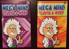 Set Of 2 Pocket Size Mega Mind Search Word Find Hunt Books English Seniors Games