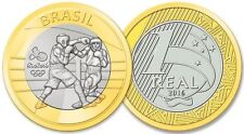 BRAZIL - 2016 RIO OLYMPIC GAMES - 1 REAL COIN - BOXING