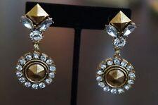 Helen of Troy Crystal Drop Earrings New Erickson Beamon Rocks Antique Gold