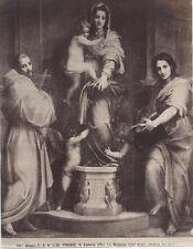ALBUMEN PRINT, UNMOUNTED, PHOTO OF MADONNA OF THE HARPIES BY ANDREA DEL SARTO.