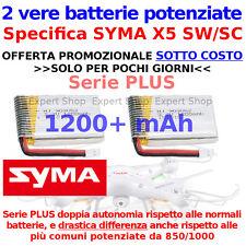 VERE batterie potenziate 1200 PLUS solo per Drone SYMA X5 SC SW DOPPIA AUTONOMIA