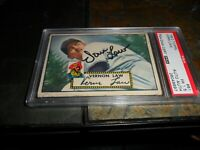 1952 Topps baseball card #81 Vern Law PITTSBURGH PIRATES PSA/DNA Autograph