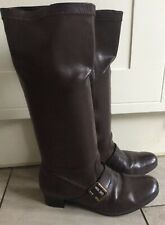 """RIEKER ANTISTRESS BROWN SIDE BUCKLE HIGH BOOTS UK 6 BOXED """"SALLY"""" Ex Con"""