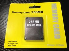 PS2 Playstation 2 Memory Card 256MB For Sony PS2 Games 128MB + 128MB New