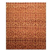 "7'10"" x 9'8"" Hand Knotted Wool Authentic Tamarian Tibetan Area Rug Burnt Orange"