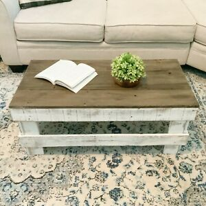 Reclaimed Wood Coffee Table, Rustic Contemporary Style, Environmentally friendly