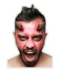 Demon Horns Latex Appliance Adult Scary Halloween Devil Prosthetic Kit Make-up