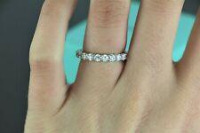 $10,000 Tiffany Co Embrace Platinum Round Diamond 3mm Eternity Wedding Band 5.5