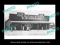 OLD LARGE HISTORIC PHOTO OF PINNAROO SA THE SIEMERING MUTUAL STORE c1910