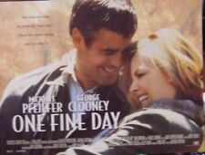George Clooney  Michelle Pfeiffer  ONE FINE DAY(1996) Original UK mini poster
