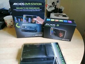 Archos 5 250GB Internet Media Tablet with DVR station and Leather Case unused