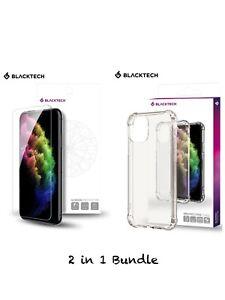Motorola Moto G8 4G Blacktech Protective Case+Screen Protecor 2in1 Bundle