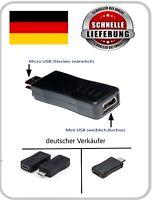 Adapter Mini USB Buchse auf Micro USB B Stecker 2.0 5 Pin Kupplung Anschluss