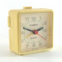 Vintage Cardinal Quartz Alarm Travel Glow Dark AA Battery 2 in Square Clock J193