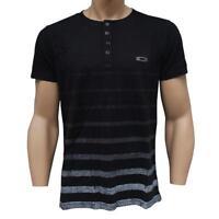 Oakley CAPTIVE Short Sleeve T-shirt Size M Medium Jet Black Slim Fit Mens Shirt